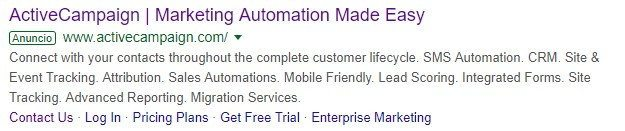 ejemplo google search ads