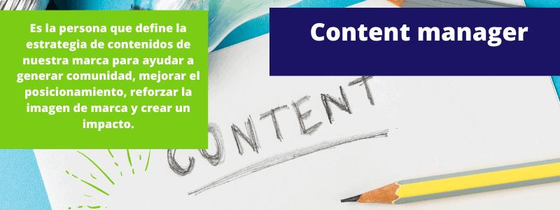 content manager - Disciplinas del marketing digital